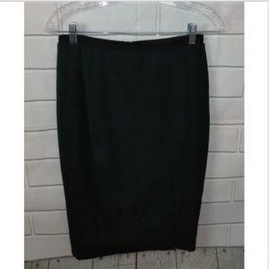 Zara Wool Side Slit Pencil Skirt
